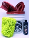 Wascheimer komplett Set mit Sealcover Grit Guard und Black Light Soap Shampoo